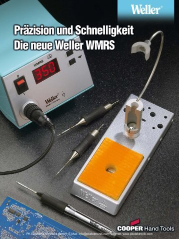 Produktinformationen Weller Lötstation WMRS - PK Elektronik