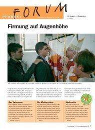 Firmung auf Augenhöhe - Pfarreiforum