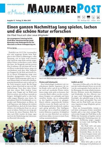 Ausgabe 12 vom 22. März 2013 [PDF, 11.3 MB] - Maurmer Post