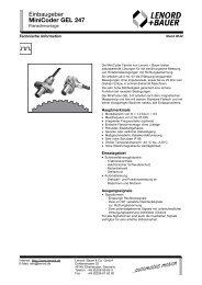 Einbaugeber MiniCoder GEL 247 - Nuova Elva