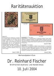 Raritätenauktion Dr. Reinhard Fischer