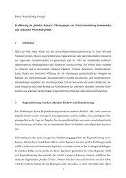 Dieter Rehfeld/Mag Wompel Profilierung im globalen Kontext ...