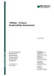 PROSA – Product Sustainability Assessment - PROSA - Produkt ...