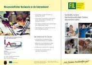 Flyer FIL - LASA Brandenburg GmbH