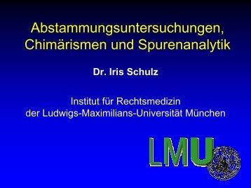 DNA-Untersuchungen in der Kriminalistik - am Institut für ...