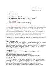 Informationen zum Kurs und zur Buchung (Pdf) - Schloss Goseck