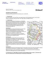 Projektbeschreibung - Quartierverein Wipkingen