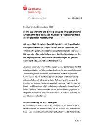 2013_0409_PM Geschäftsergebnis - Sparkasse Nürnberg