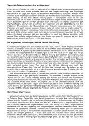 Warum die Tetanus-Impfung nicht schützt - Wiesenfelder.de