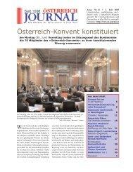 Österreich-Konvent konstituiert - Österreich Journal