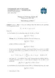 Musterlösung - Mathematik - Universität des Saarlandes