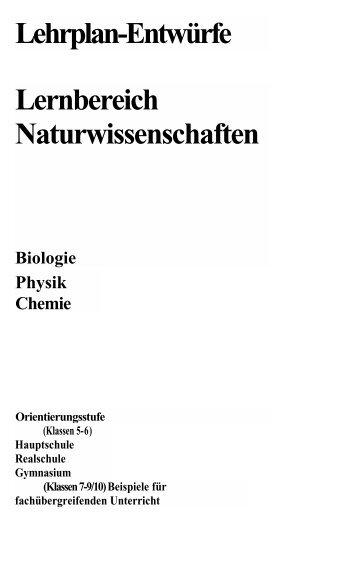 Lehrplan 7-10 Biologie und Chemie
