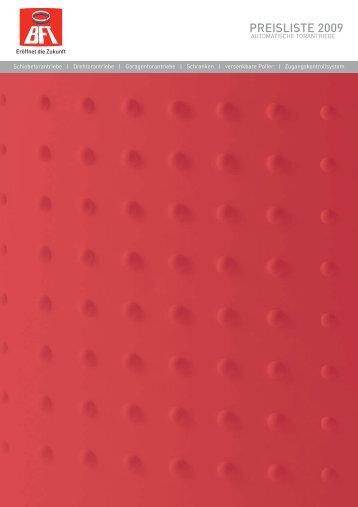 BFT Torantriebe, Schranken, Poller - Katalog 2009 - Nothnagel