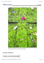 Lieber tot als lebendig? - NZZ Webpaper - Hospiz im Park