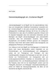 Gemeindepädagogik - ein Container-Begriff - ak ...