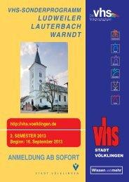 Sonderprogramm Ludweiler 2-2013 - Stadt Völklingen