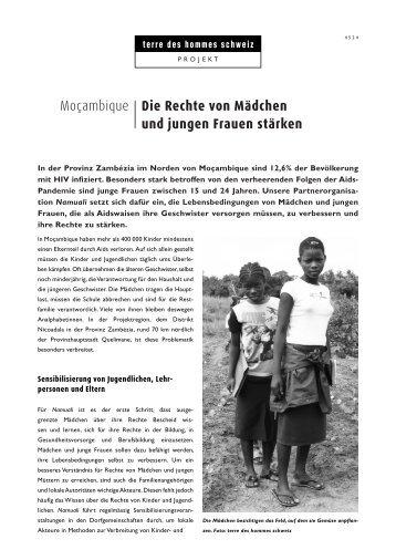 Die Rechte von Mädchen und jungen Frauen stärken - Terre des ...
