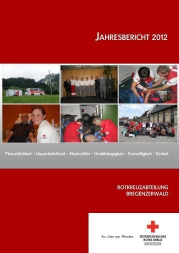 JAHRESBERICHT 2012 - Österreichisches Rotes Kreuz