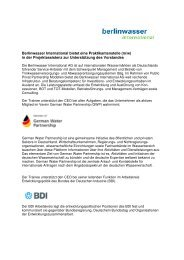 German Water Partnership - Berlinwasser International Gmbh