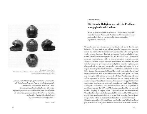 Die fremde Religion war nie ein Problem, was ... - Christian Reder