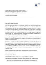 Ausführungen von Herrn Professor Dr. Ulrich Lehner ... - VCI Nord