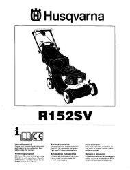 Husqvarna R152SV - ManageMyLife