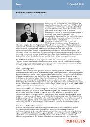 Fokus 1. Quartal 2011 - Raiffeisen