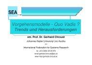 Vorgehensmodelle - Quo Vadis? Trends und Herausforderungen