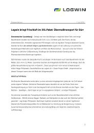 Logwin bringt Frischluft im XXL-Paket ... - Logwin Logistics