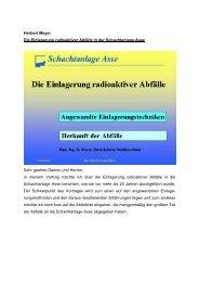 Herbert Meyer Die Einlagerung radioaktiver Abfälle ... - Asse-archiv.de