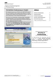 Fondsauszüge zum gesamten Vorjahr - CCSAP der ETH Zürich