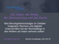 Die Daten, die Wolke, die Überwachung und das ... - Erich Moechel