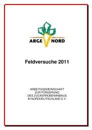 Versuchsbericht 2011 - Arge Nord