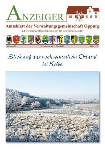 Amtsblatt 03 - Verwaltungsgemeinschaft Oppurg