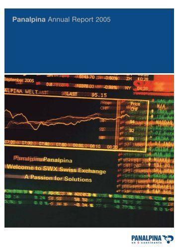 Panalpina Annual Report 2005