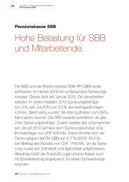 Pensionskasse SBB - Geschäfts- und Nachhaltigkeitsbericht 2010