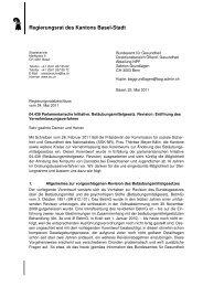 Revision Betäubungsmittelgesetz - Regierungsrat - Kanton Basel ...