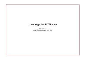 Luna Yoga bei ELTERN.de - Yoga-pfade.de