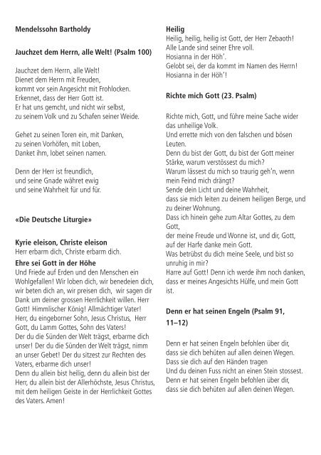 felix mendelssohn bartholdy - konzerte-bern.ch - Konzertkalender