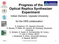 Progress of the Optical Replica Synthesizer ... - FLASH - Desy