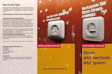 Stromwechsel-Hinweis Verbraucherzentrale