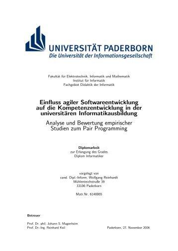 Einfluss agiler Softwareentwicklung auf die Kompetenzentwicklung ...