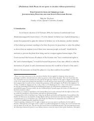THE CONSTITUTION OF CRIMINAL LAW