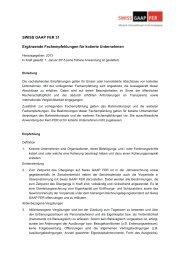 SWISS GAAP FER 31 Ergänzende Fachempfehlungen für kotierte ...