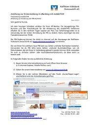 Erstanmeldung in eBanking mit mobileTAN - Raiffeisen-Volksbank ...