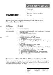 Brief intern - StuRa Universität Leipzig