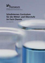 Schulinternes Curriculum für die Mittel- und Oberstufe im Fach Chemie