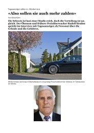 Interview in Tagesanzeiger online vom 21. Oktober 2011 (PDF)