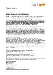 Okt 2011 Medienmitteilung stadt-art Ausstellung - textklusiv.ch