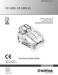 CR 1000, CR 1000 XL - Nilfisk PARTS - Nilfisk-Advance
